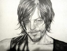 ..::Daryl Dixon:Norman Reedus Portrait::.. by The-MuseDragon