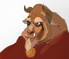Disney quick sketch: Beast by WulfFather