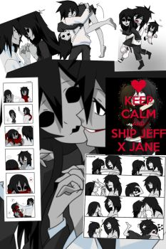 Jeff x Jane the killer by CynthiaSabotage59