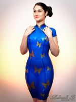 Mademoiselle Ilo - Madame Butterfly latex dress -  by Mademoiselle-Ilo