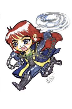 anubus quake with fear chibi by lucidfairy