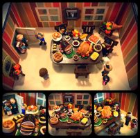 A Very Chibi Thanksgiving Dinner by Marielishere