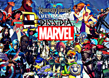 Kingdom Hearts Ultimate Dissidia Marvel Hero World by multificionado