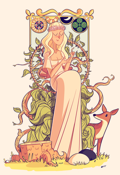 Miss Mother Nature by GusDraws