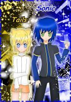 Sonic and Tails Human Form by Biel-Sama