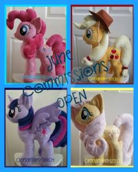 mlp plushie JUNE COMMISSIONS OPEN by CINNAMON-STITCH
