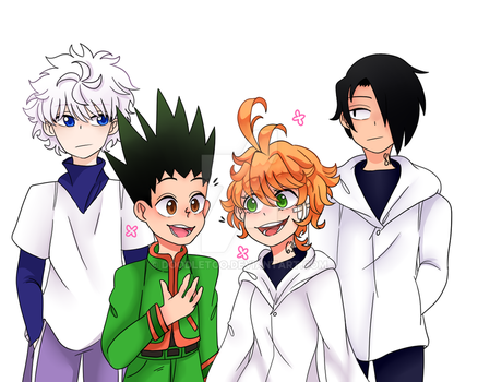 HxH and Promised Neverland by DoodleToo on DeviantArt