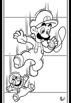 SMB the movie coloring book REMAKE 11 by FlintofMother3