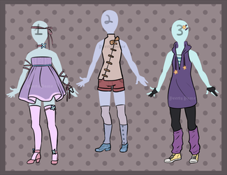 Outfit adoptables 2 by DeerlyDame