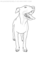 APBT Lineart by Akudemonicwolf