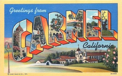 Large Letter Postcard - Carmel By The Sea CA by Yesterdays-Paper
