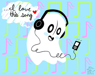 Happy Napstablook by CantateDomino