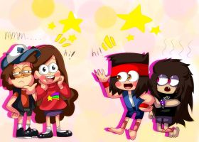 gravity falls and OK KO Let's Be Heroes Crossover by CielDoCiela
