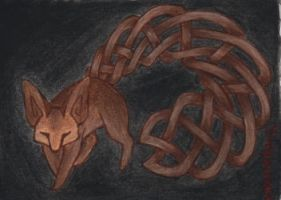 Tribal 'Fennec' ACEO by PanHesekielShiroi