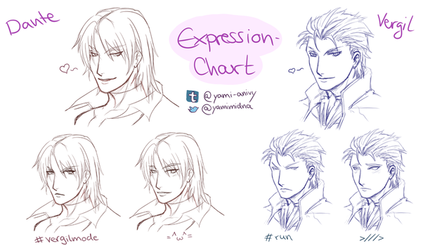 DMC Vergil - Dante Expressions by YamiMidna