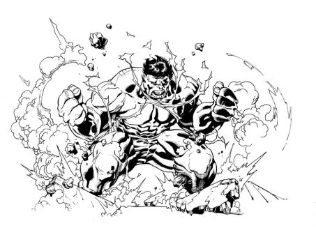 Hulk sketch inks by antalas