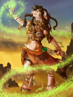 Commission: Tauren Shaman by Celestialess