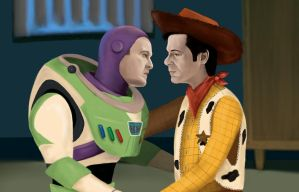Bass Lightyear and Sheriff Miles by atlantiss505