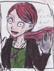 A Terrible drawing of Gunnerkrigg Cout's Annie... by FantasyMusicWarrior