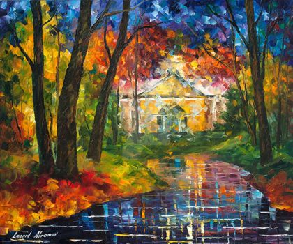 House By The Stream by Leonid Afremov