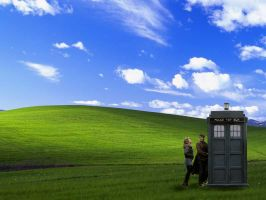 TARDIS visits Windows XP by fallowbuck