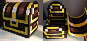 Zelda Treasure Chest Perler by Toriroz