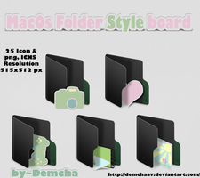 MacOs Folder Style board Black by DemchaAV