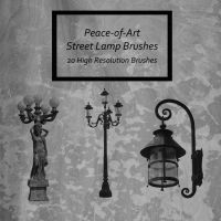Street Lamp Brushes by Peace-of-Art