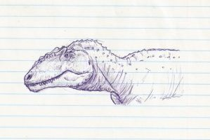 Giganotosaurus sketch by DinoHunter000