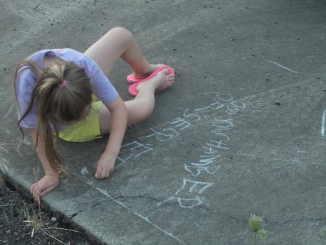 Writing on the ground by ArtistStock