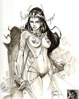 Dejah Thoris Sketch by RandyGreen
