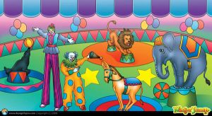 Circus Art Panel by designfxpro