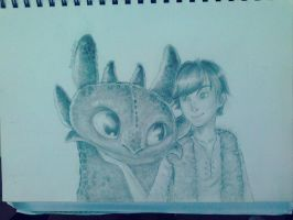 Hiccup and Toothles by Polar-Wolf