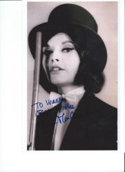 Hammer Film's Actress Yvonne Monlaur's autograph by wemayberry