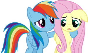 Hey Fluttershy, whats wrong? by Acer-Rubrum