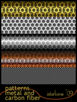 gimp patterns: metal-n-carbon by istarlome