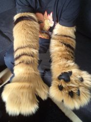 New Fursuit parts: Armsleeves by Dragonfire16