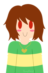 Lineless Chara - Undertale by Bunny-Beryl