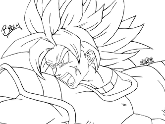Dragon Ball Super: Broly (Lineart) by Xhyshtar