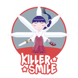 KILLER SMILE SHIRT DESIGN SPEED DRAWING