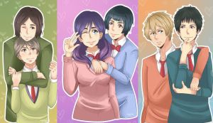 Watashi Ga Motete Dousunda Couples by NoLightArtist