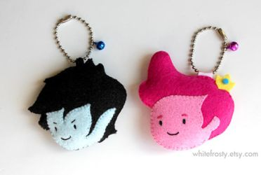 Marshall Lee and Prince Gumball Key chains by whitefrosty