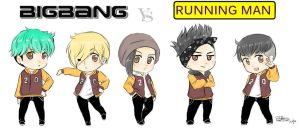BIGBANG VS RUNNING MAN by IDASWANZ