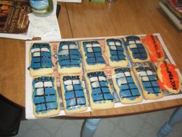 Doctor Who TARDIS Coookies by Supreme-High-Empress
