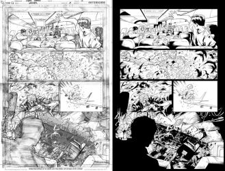 Grifter #8 page 2 inks... by Hachiman1