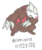 Excadrill up for battle