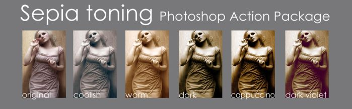 Sepia toning - Action package by paranoidstock