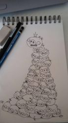 Pile of pigs by uppuN