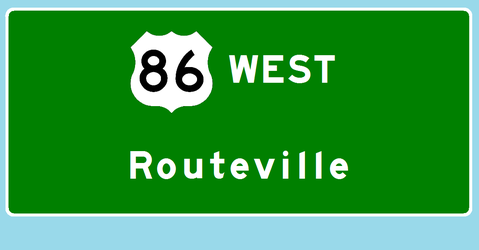 U.S. Route 86 west to Routeville by Interstate48