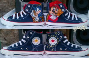 Mario and Sonic Shoes by LnknPrk7Snoopy